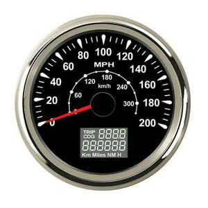 """3 3/8"""" GPS Speedometers 0-200MPH 300km/h For Motorcycle Car SUV Boat Truck"""