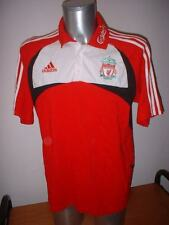 Liverpool Adidas Training Adult L Polo Football Soccer Gerrard Shirt Jersey Red