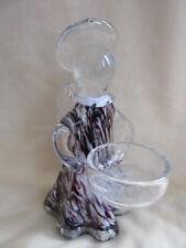 AMELIA ART GLASS ANGEL TEA LIGHT HOLDER AMETHYST 15cm BOXED IDEAL GIFT