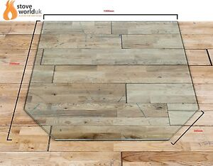 Hexagon 12mm Glass Hearth For Woodburning Stove Stove Hearths Plinth