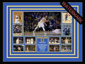 STEPH CURRY GOLDEN STATE WARRIORS LIMITED EDITION SIGNED & FRAMED MEMORABILIA