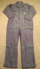 Vintage Coveralls Dee Cee Men's 46R Striped Distressed Workwear Long Sleeves