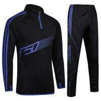 Men Kids Tracksuits Football Kits Soccer Jerseys Set Boys Football Training Suit