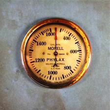 """Steampunk Vintage WW1 Airplane RPM Gauge Fridge Magnet 2 1/4"""" Dieselpunk Brass"""