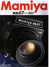 MAMIYA RB PRO SD CATALOG/BROCHURE (ORIGINAL PRINT) ((( 2 languages to pick )))
