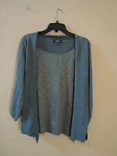 Elementz Size Medium Style MSVF0910 New Sweater With Attached Cami Womens