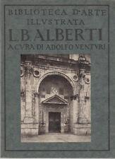 ARTE LEON BATTISTA ALBERTI  BIBLIOTECA D'ARTE ILLUSTRATA 1923
