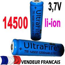 14500 3.7V Rechargeable Batterie 1200mAh  ultrafire LED