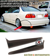 Mu-gen Style Rear Lip Valences Aprons (PU) Fits 99-00 Civic 4dr