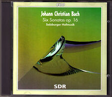 JC BACH 6 Piano Sonata Op.16 Flute Violin Karl Kaiser SALZBURGER HOFMUSIK CPO CD