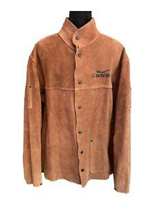 Condor Welding Jacket 2AJ40B Brown Leather Condor Welding Coat - Men's Large
