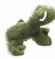 "Ganz Webkinz Frog 8"" Plush Fuzzy Long Hair Green Stuffed Animal NO CODE"