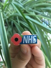 NHS poppy pin badge- nurse,doctor,carer,physio,HCA,cleaner,porter