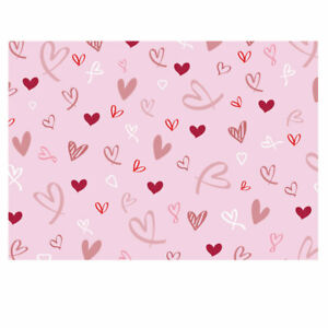 Valentines Hearts Design Gift Wrapping Paper-Pink. Unique gift wrap. A3-GP318