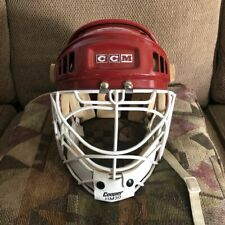 Red CCM w/ Cooper HM30 and chin sling