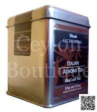 Dilmah Exceptional Italian Almond Ceylon Tea with Almond Flavor 100g Tin Caddy
