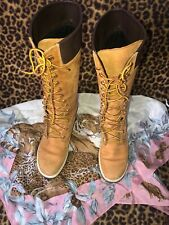 Timberland 23345 Premium Leather Womens Tall Boots Wheat Nubuck Sz 7.5 M $190.00