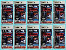 "10 Ultra Pro 1/4"" 4-SCREW SCREWDOWN RECESSED Standard Trading Card Holder 3x5"