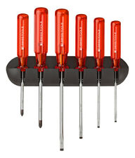 PB Swiss Tools PB 244 Screwdriver Set Slotted/Phillips Wall Rack Classic Handle
