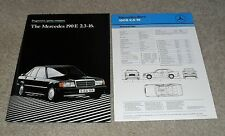 Mercedes 190E 2.3-16 Cosworth Brochure 1985-1987  2.3 16 With Spec Sheet