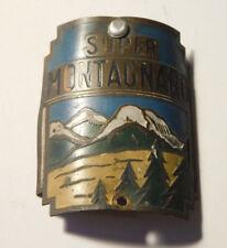 super montagnard ANCIEN 1910-1920 PLAQUETTE PLAQUE cadre de VELO old BIKE frame