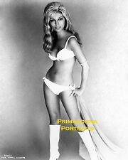 NANCY SINATRA  8X10 Lab Photo B&W SEXY WHITE SWIMSUIT & BOOTS PORTRAIT Babe