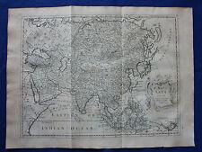 Original antique map, ASIA, CHINA, JAPAN, INDIA, SIBERIA, R.W. Seale, 1744