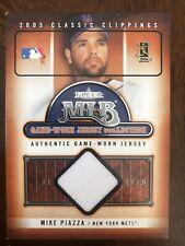 Mike Piazza 2005 Fleer Classic Clippings Game-Worn Jersey #20 New York Mets HOF