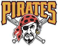 Pittsburgh Pirates MLB Color Die Cut Decal Sticker Choose Size cornhole