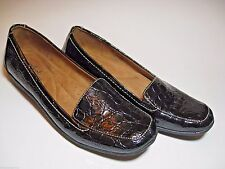 NEW Naturalizer Natural Soul Fanna Loafers Black Patent Croc  7M