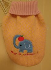QUALITY DOUBLE KNIT PEACH ELEPHANT DOG PUPPY JUMPER SWEATER SMALL MEDIUM SIZES