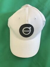 VOLVO CLASSIC BASEBALL CAP WHITE HAT LOGO EMBROIDERED IN FRONT ADJUST 100%cotton