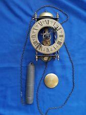 Alte Wanduhr Pendeluhr * Skelettuhr - Tempus Fugit * mit Glocke - ca. 1960er