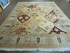 8' X 10' Vintage Hand Made Turkish Oushak Multi Panel Wool Rug Carpet decorative