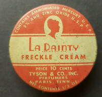 Vintage 1930s La Dainty Freckle Cream Tin Empty Tyson & Co