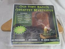 Old Time Radio's Greatest Mysteries 20 Audio Cassettes 30 hours Orson Welles