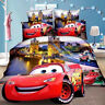 Single Size Quilt Doona Cover Set NEW Duvet Covers Pillow Case McQueen Cars Red