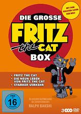 La grosse FRITZ THE CAT CAJA La neuen 9 Vida FUERTE TRANSPORTE 3 DVD Colección