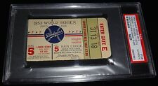 1953 WORLD SERIES GAME 5 TICKET NY YANKEES MICKEY MANTLE WS GRAND SLAM HR #4 PSA
