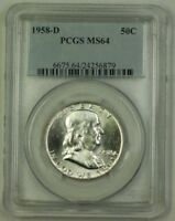 1958-D US Franklin Silver Half Dollar 50c Coin PCGS MS-64