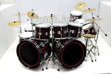 DRUM SET DRUM KIT DOUBLE BASS BLACK MINIATURE REPLICA FOR DISPLAY ONLY