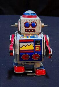 Vintage 'Litho Printed' Clockwork Robot