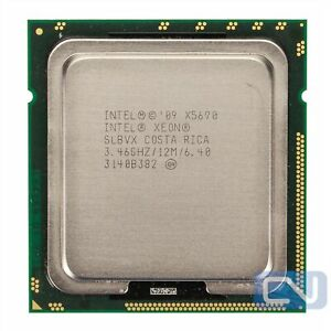 Intel Xeon X5690 SLBVX 6 Core 3.46 GHz 6.4 GT/s 12 MB LGA 1366 CPU Processor