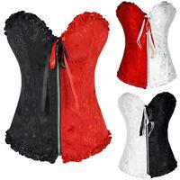 Sexy Women Body Dress Corset Basque Bustier Lace up Cincher Lingerie Plus Size h