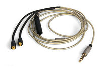 Upgrade Silver Audio Cable For Shure SE535 SE846 With remote microphone