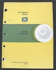 1960's JOHN DEERE 224T 224WS SERIES BALER PARTS CATALOG MANUAL VERY GOOD SHAPE