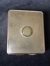 Art Deco Silver Combined Cigarette Case/Powder Compact - London C&C 1935 - 143g
