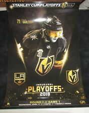 Vegas Golden Knights vs Los Angeles Kings Karlsson playoff poster game 1