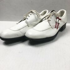 Womens Foot joy TCX Golf Cleat Shoes Size 9M Cream Leather Upper 48504