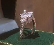 "Stones Women Wedding Ring Size ""8"" M60 Cute 925 Sterling Silver Crystal & Zircon"